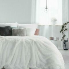Donkergroene Luxe bed deken Brulo Polyester sprei 70x160 cm Gewicht-240 GSM
