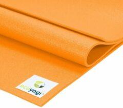 Ecoyogi Studio Yoga Mat Oranje - 200 cm - extra lang