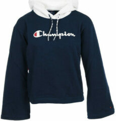 Blauwe Kleding Champion Large Script Logo Bi-Colour Hooded Sweatshirt by Champion