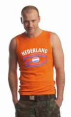 Fun & Feest Party Gadgets Nederland fan singlet oranje heren Xl
