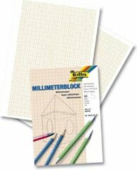 Naturelkleurige Merkloos / Sans marque Millimeter/blanco papier A4