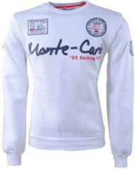 Geographical Norway heren sweater monte carlo ronde hals folo - wit