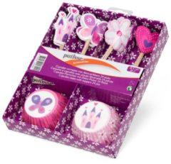 Patisse Cupcakevormen Met Deco-prikkers 5 Cm Papier Roze 24 Stuks