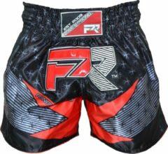 Punch Round™ Punch Round Evoke Kickboks Broek Zwart Rood XS = Jeans Maat 28 | 8 t/m 10 Jaar