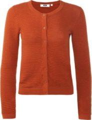 Bruine WE Fashion Dames vest met ribstructuur - Maat S