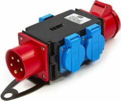 Rode Lemato 1 x 400 Volt en 3 x 230 Volt Verdeelblok