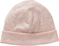 Cottonbaby babymutsje+krabwantjes ajour roze 0-3 mnd