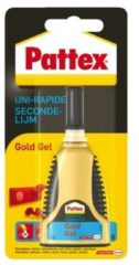 Gouden Pattex Gold Gel Secondelijm - GEL = NIET DRUIPEN - 3 Gram Transparant