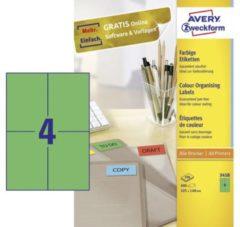 Avery-Zweckform 3458 Etiketten 105 x 48 mm Papier Groen 400 stuks Permanent Universele etiketten 100 vel DIN A4