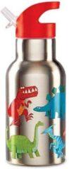 Drinkfles Dinosaurus - 400 ml Stainless steel | Crocodile Creek