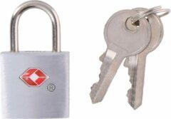 Zilveren Dunlop Travel 2 x TSA Reisslotjes met Sleutel - Kofferslot / Bagageslot - Hangslot Met 2 sleutels - Sleutelslot