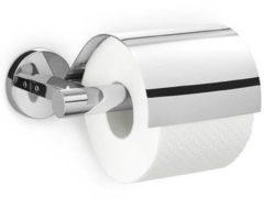 Zack Scala Toiletrolhouder Met Klep 9.5X18X15.5cm Spiegelglans RVS 40051