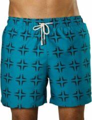 Sanwin Beachwear Zwembroek Heren Sanwin - Groen Venice Boomerangs - Maat S