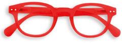 Rode IZIPIZI C leesbril met klassiek montuur