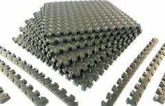 Zwembadtegel ondergrond van WDMT™ | 40 x 40 x 1 cm | 6-delige ondervoer voor zwembaden | Vloermat eenvoudig te bevestigen en reinigen | Grijs