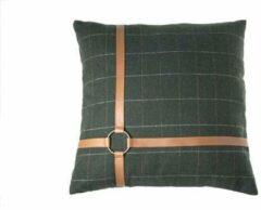 Cosy&Trendy Sierkussen groen textiel - 45 x 45 cm