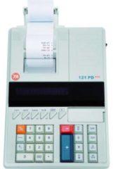 Triumph Adler 121 PD eco Bureaurekenmachine met printer werkt op het lichtnet Wit Aantal displayposities: 12