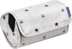Zwarte Dooky Armkussen Crown 14 X 7 Cm Polyester Lichtgrijs