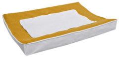 Witte BINK Bedding aankleedkussenhoes 70x45 cm pique oker