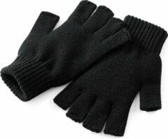 Beechfield 2-Pack Unisex Winterhandschoenen zonder vingers (Zwart)