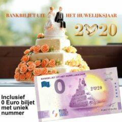Paarse 0 Euro biljet Nederland 2020 - Bankbiljet uit het huwelijksjaar in cadeauverpakking