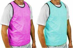 Precision Trainingshesje Bib Polyester Blauw/roze 2-3 Jaar