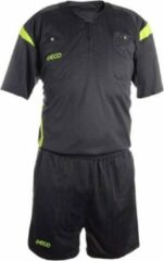 Geco Sportswear Scheidsrechter set Mistral Grijs/Neon korte mouw / maat: XXL