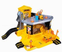Gele Dede - Bouwplaats speelgoed - Bouwpakketten - bouw speelgoed jongens - Constructie speelgoed - Vanaf 3+ jaar - 2 Auto's