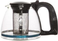 Transparante Glazen theepot met thee filter/infuser 1.2 l - Theepotten/theekannen van glas - Theepot met theeinfuser