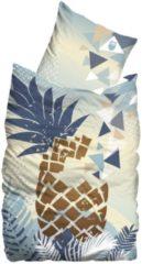 Linon Bettwäsche im Digitaldruck Pineapple 2tlg. Suenos eisblau