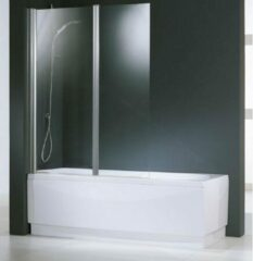 Witte Novellini Aurora 2-deligebadwand 120x150 cm omkeerbaar