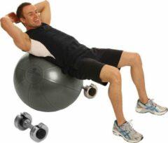Zwarte Fitness-Mad | Studio Pro | Fitnessbal | Gymbal | Fitbal | Ø 55 cm | Antraciet. Belastbaar tot 500 KG. Anti-burst! Perfect voor krachttraining!