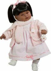 Roze Berbesa Babypop Dulzona Afrikaans Ruitjes 62 cm