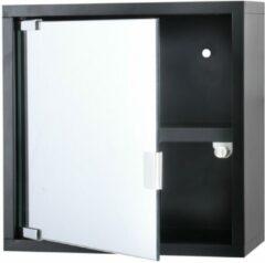 Differnz Differenz Quardo kubuskast 30 x 30 x 12 cm Met Spiegel Zwart