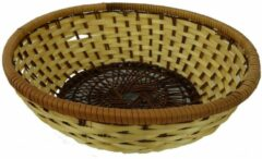 Bruine ARO products Mandje Bamboe Rond 22x7cm