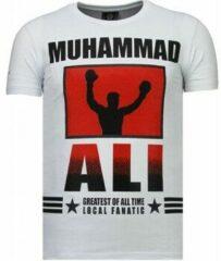 Local Fanatic Muhammad Ali - Rhinestone T-shirt - Wit Muhammad Ali - Rhinestone T-shirt - Groen Heren T-shirt Maat XL