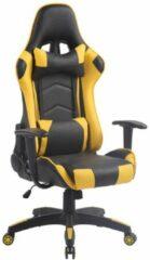Luxe Comfort Bureaustoel - Gamestoel - Stoel - Gaming - Race - Comfortabel - Zwart - Geel