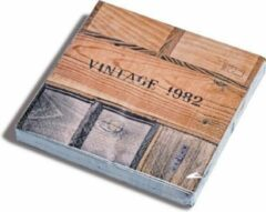 Bruine Dutch Design Brand - servetten - 33 x 33 - Lunchservetten - Serie: Wine Design