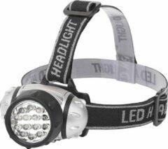 Quana LED Hoofdlamp - Igan Heady - Waterdicht - 35 Meter - Kantelbaar - 14 LED's - 1W - Zilver | Vervangt 8W