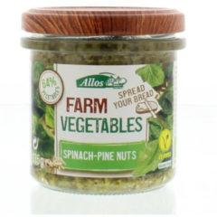 Allos Farm vegetables spinazie & pijnboompitten 135 Gram
