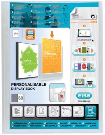 Afbeelding van OXFORD Polyvision personaliseerbare presentatiealbum, formaat A4, uit PP, 60 tassen, transparant