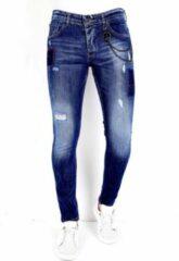 Local Fanatic Exclusive Spijkerbroek Heren Slim fit - 1001- Blauw - Maten: 31