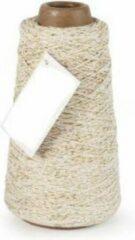 Vivant Cotton Cord Lurex/ Katoen touw 300 meter creme/goud ø2mm