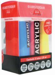 Royal Talens Standard primary set 5 kleuren 120 ml tubes acrylverf met doseertuiten