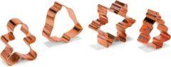 Bronze Patisse uitsteekvormen set rvs - kerst - 4 delig