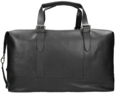 Zwarte Leonhard Heyden Dakota Travel Bag black Weekendtas