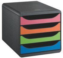 Exacompta Big-Box Ladenkastje Zwart kleurenassortiment A4+ 26 7 x 34 7 x 27 8 cm