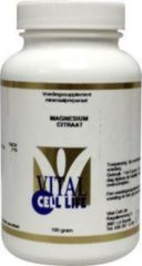 Vital Cell Life Magnesium Citraat Poeder - 100 gr - Mineralen