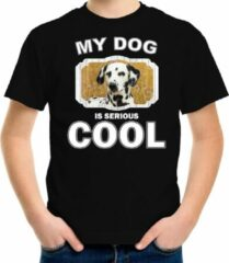 Bellatio Decorations Dalmatier honden t-shirt my dog is serious cool zwart - kinderen - Dalmatiers liefhebber cadeau shirt XL (158-164)