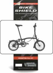 Transparante Bike Shield Bikeshield frambescherming Brompton Fullpack glossy